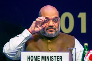 New Delhi: Home Minister Amit Shah during the 32nd Intelligence Bureau (IB) Centenary Endowment Lecture at Siri Fort auditorium, Monday, Dec. 23, 2019. (PTI Photo/Shahbaz Khan)(PTI12_23_2019_000017B)