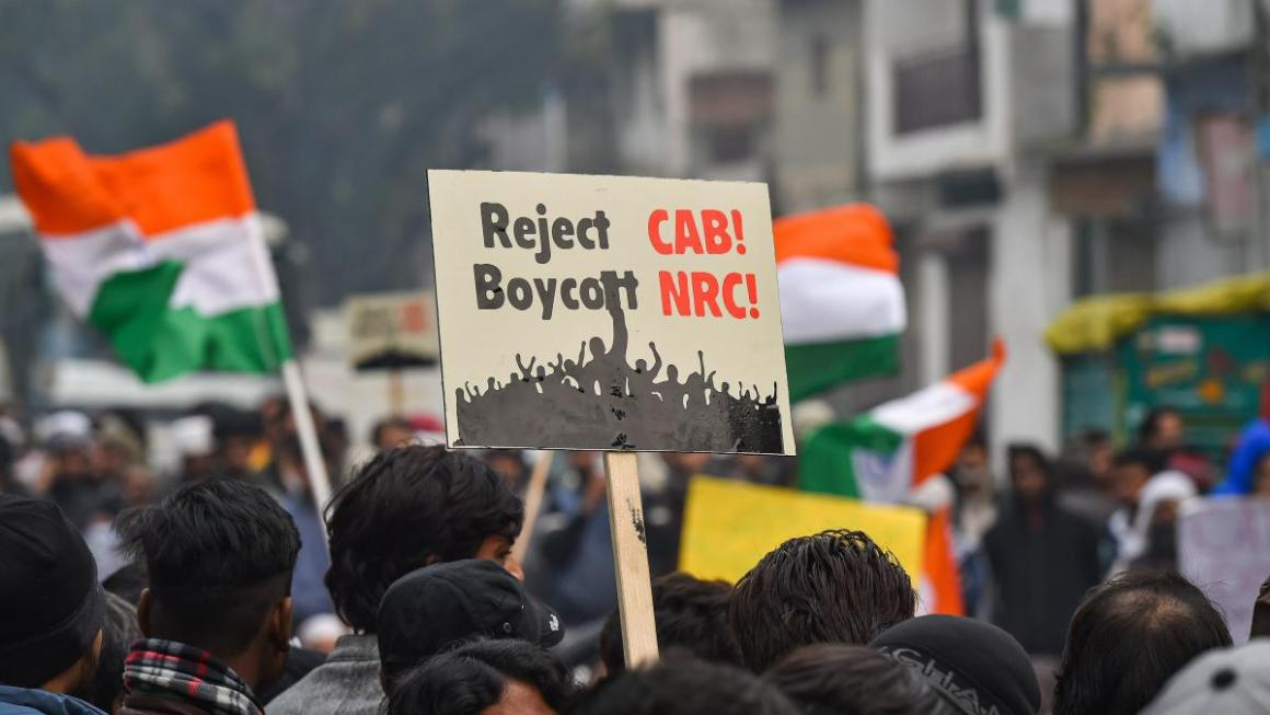 Protesters demonstrating against the Citizenship Amendment Act. (Photo: PTI)