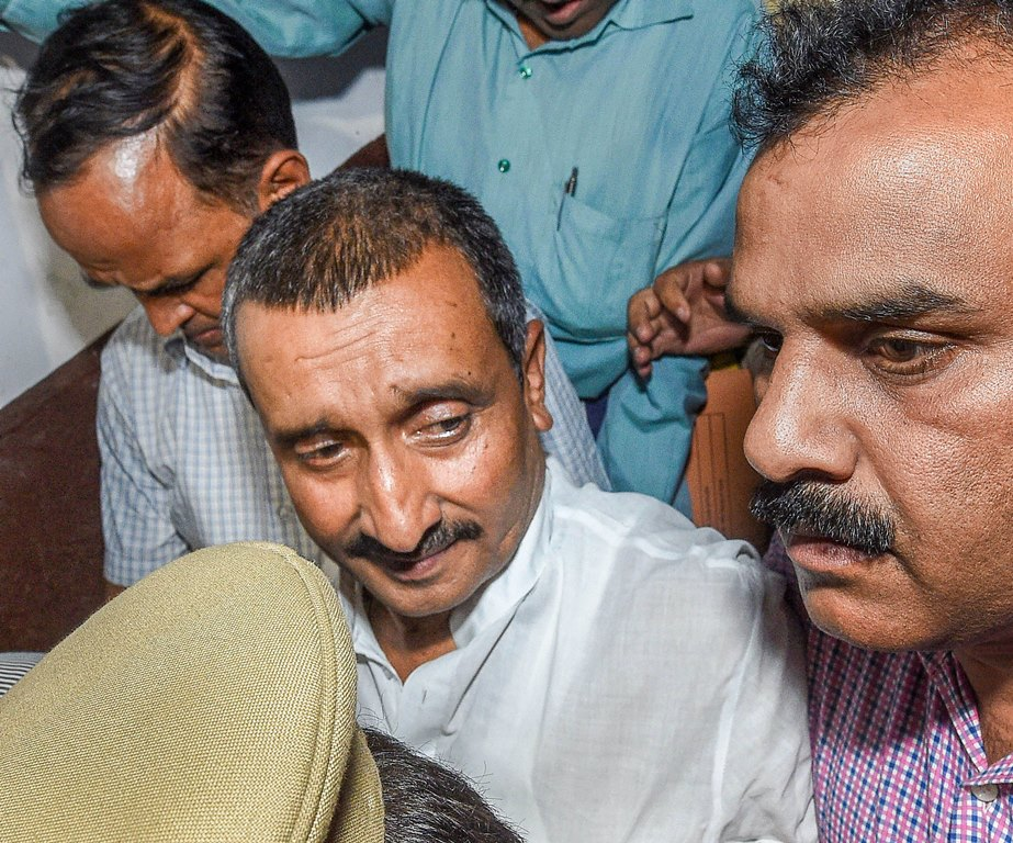 Lucknow: **FILE** File photo dated April 14, 2018, of BJP MLA Kuldeep Singh Sengar, in Lucknow. A Delhi court awarded life imprisonment, till the remainder of life, to expelled BJP MLA Kuldeep Singh Sengar on Friday, Dec. 20, 2019, for raping a woman in Unnao, Uttar Pradesh, in 2017. (PTI Photo/Nand Kumar)(PTI12_20_2019_000057B)