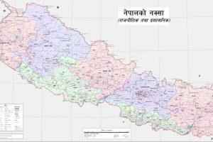 नेपाल का नया राजनीतिक और प्रशासनिक नक्शा. (फोटो: नेपाल सरकार)