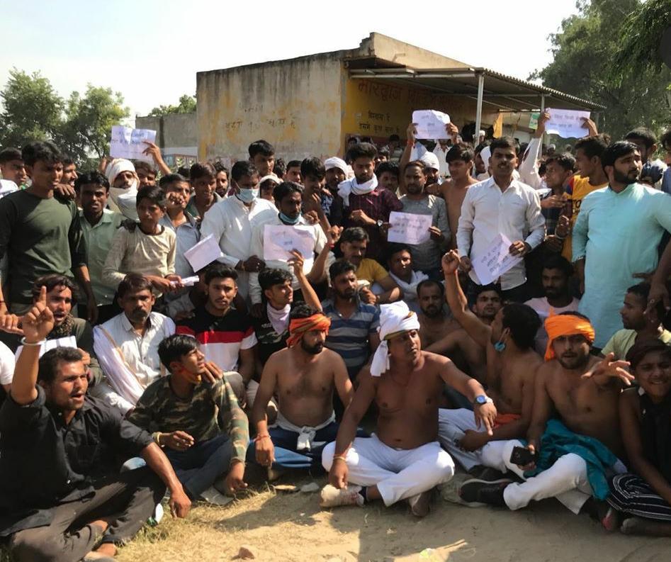 आरोपियों के समर्थन में हुई सभा. (फोटो साभार: ट्विटर/@Sumedhapal4)