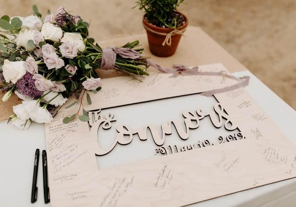 Eco-Friendly Wedding Guest Book