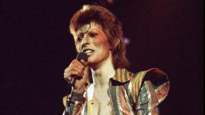 David Bowie durante il tour di Aladdin Sane, foto: Michael Putland/Getty images