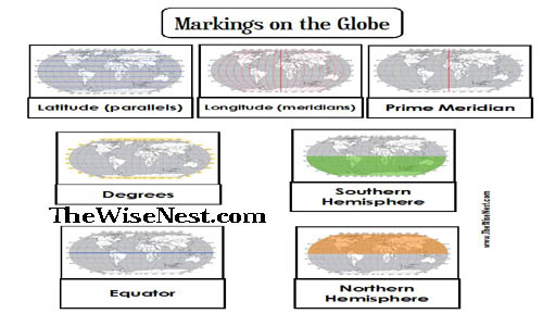Markings On The Globe To Label