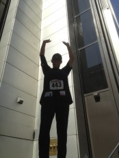 After I made it ... my Rocky Balboa pose ...