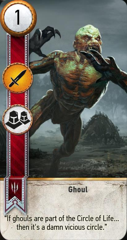 Ghoul Gwent Card The Witcher 3 Wiki