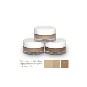 medium to dark cover creams in pots