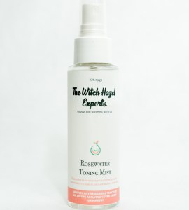 spray bottle 100ml white and rose label