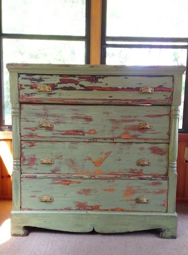 Antique green dresser