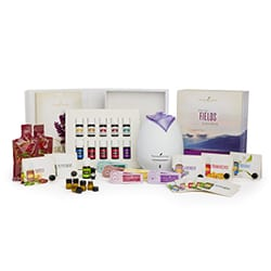 Image of Young Living Oils premium starter kit with diffuser, oils and extras