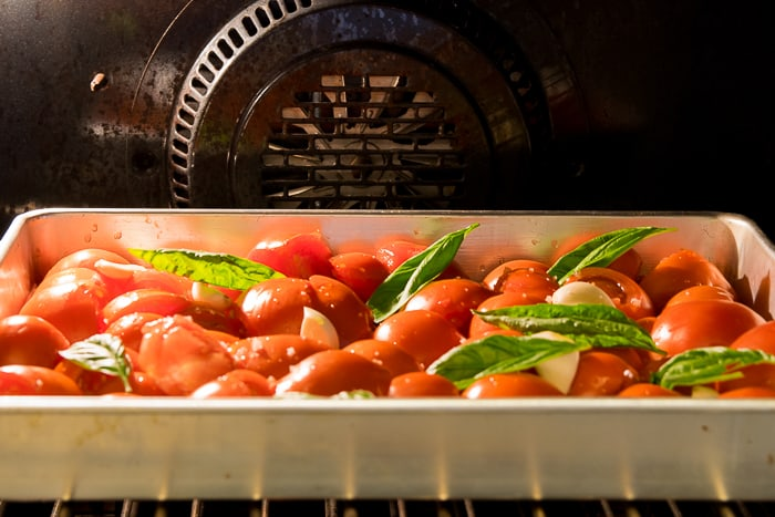 Picture of tomatoes in oven