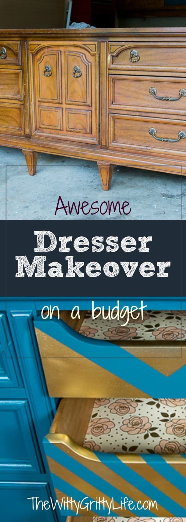 Nothing brings me more joy than bringing a sad old piece of furniture back to life. Transforming a dresser is not difficult to do. All it takes is a little know how and you can makeover a sad before into an amazing after. Let me show you how to create a piece of furniture you will be proud of!