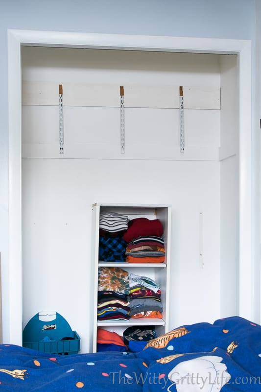 Over time this once beautiful and very functional closet was completely dismanteled.