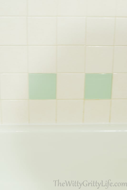 Decorative glass tile used as a replacement for tile that is no longer in production