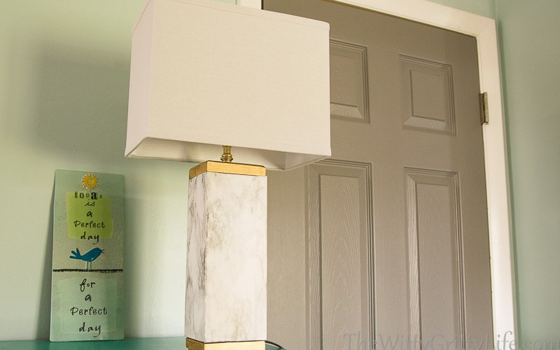 Marble Lamp Knockoff – how to get the Designer look on a Dime