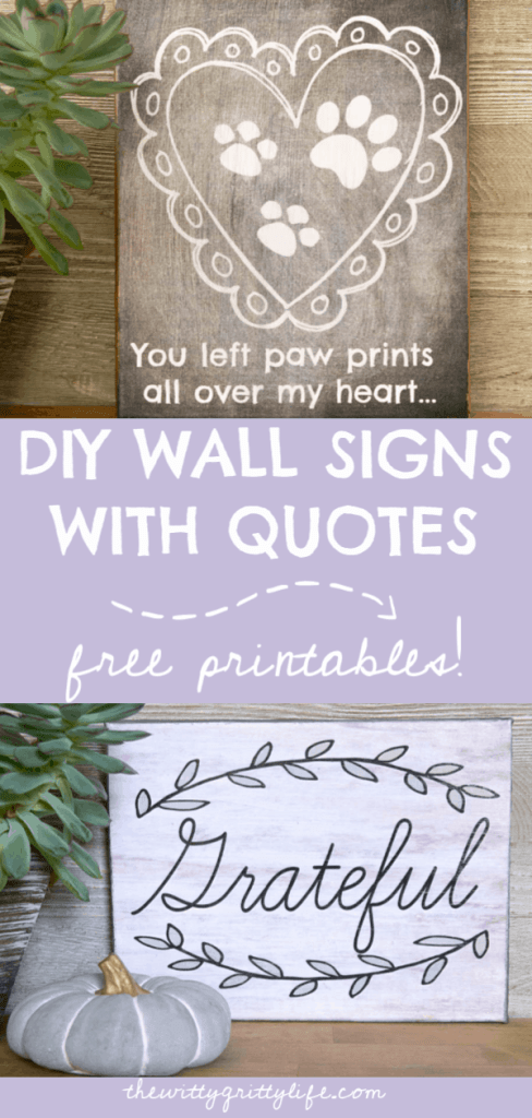 Did you know you can easily create your own DIY wall signs with quotes? My free printables make this a cheap and easy way to decorate your home with quotes to express yourself. They also make lovely gifts! Come on over and see how your can create your very own wall art that only looks expensive!