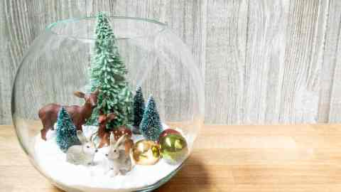 easy christmas snow globe winter scene