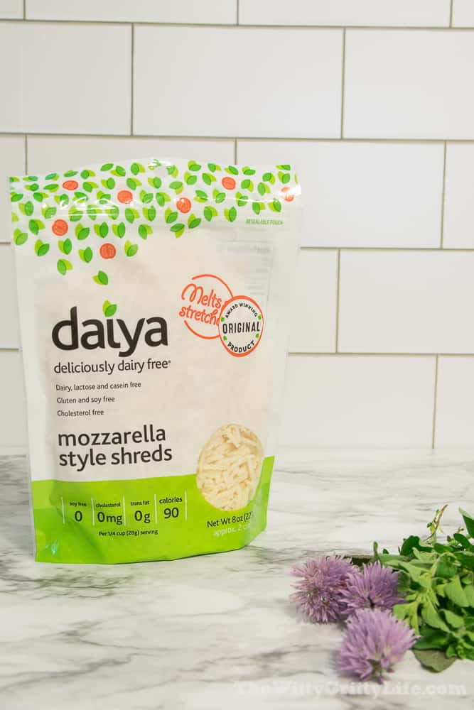 "Daiya brand shredded vegan ""cheese"""