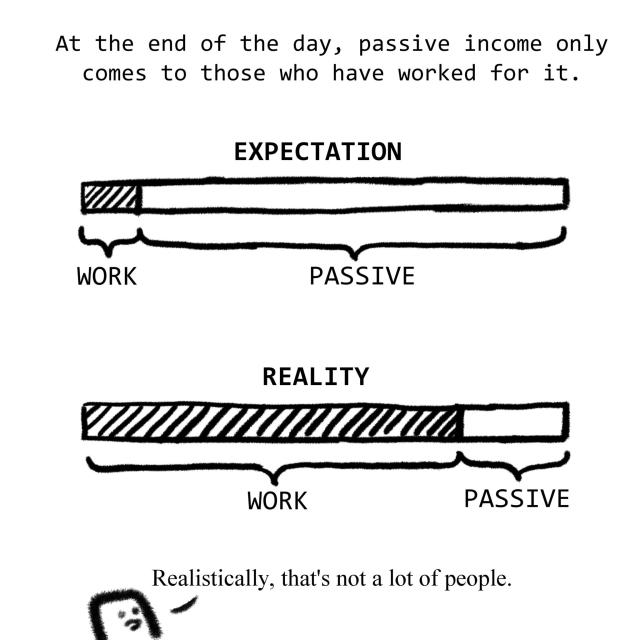 At the end of the day, passive income only comes to those who have worked for it.