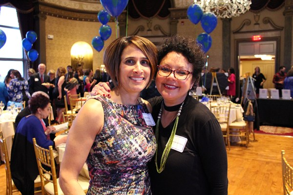 Head of School, Anna Johnson, with special guest auctioneer, Barbara Morse Silva