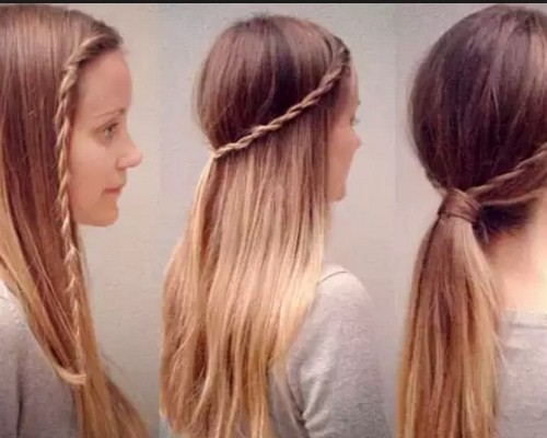 Как сделать причёску в школу фото пошагово