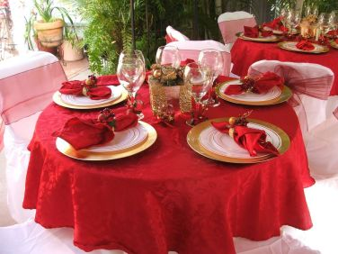 christmas table decorations for a party