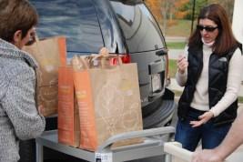 Janice unloading car