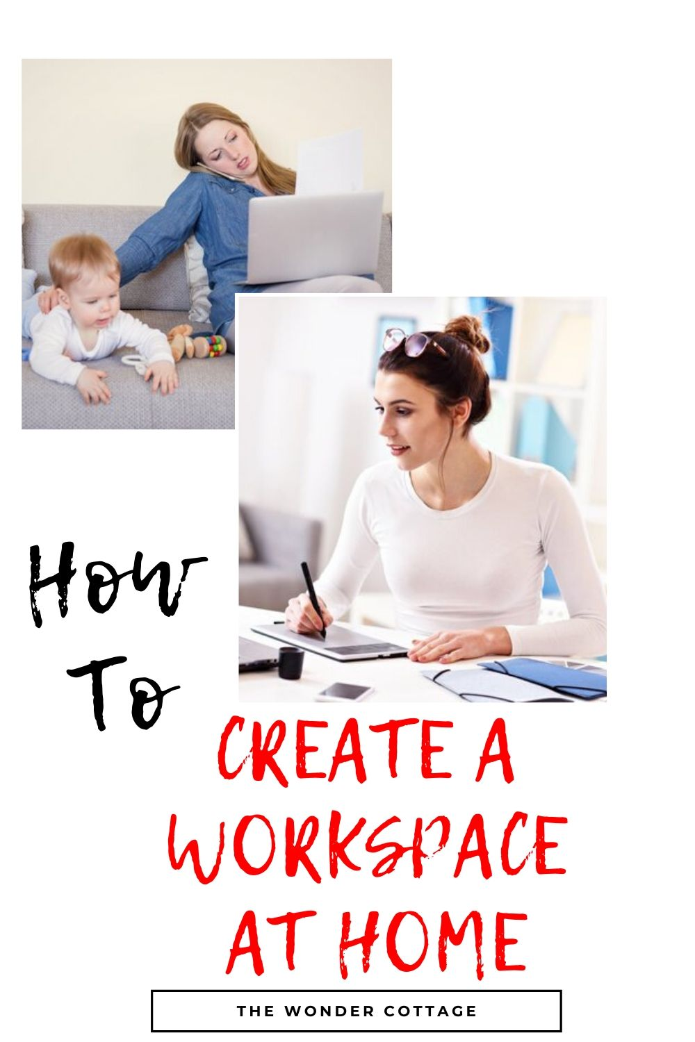 how to design a work area at home