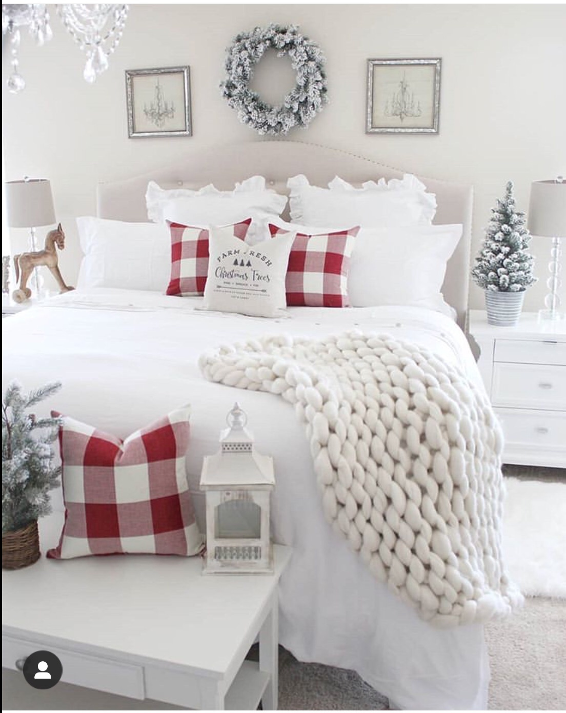 bedroom decoration for christmas