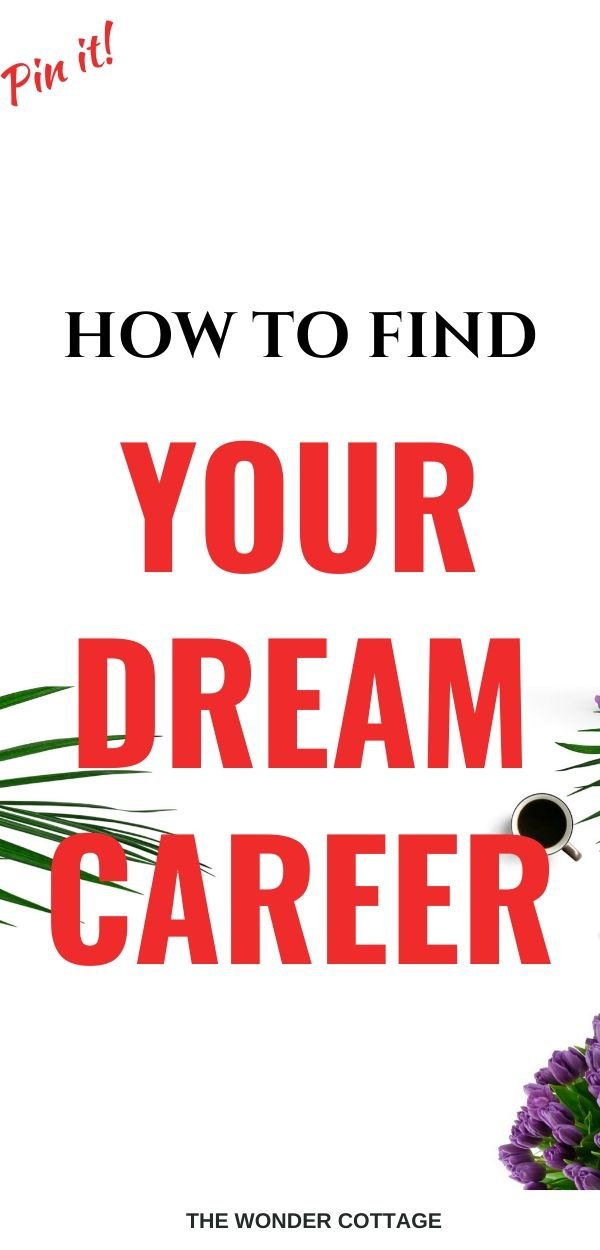 how do you find your dream career