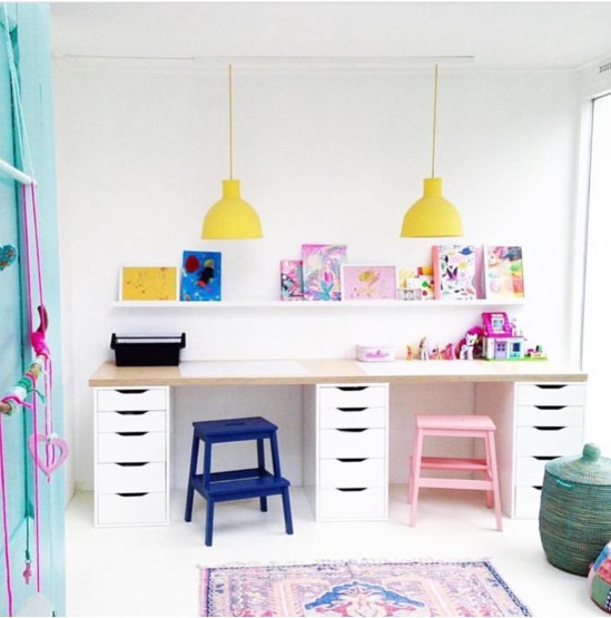 kids desk with storage