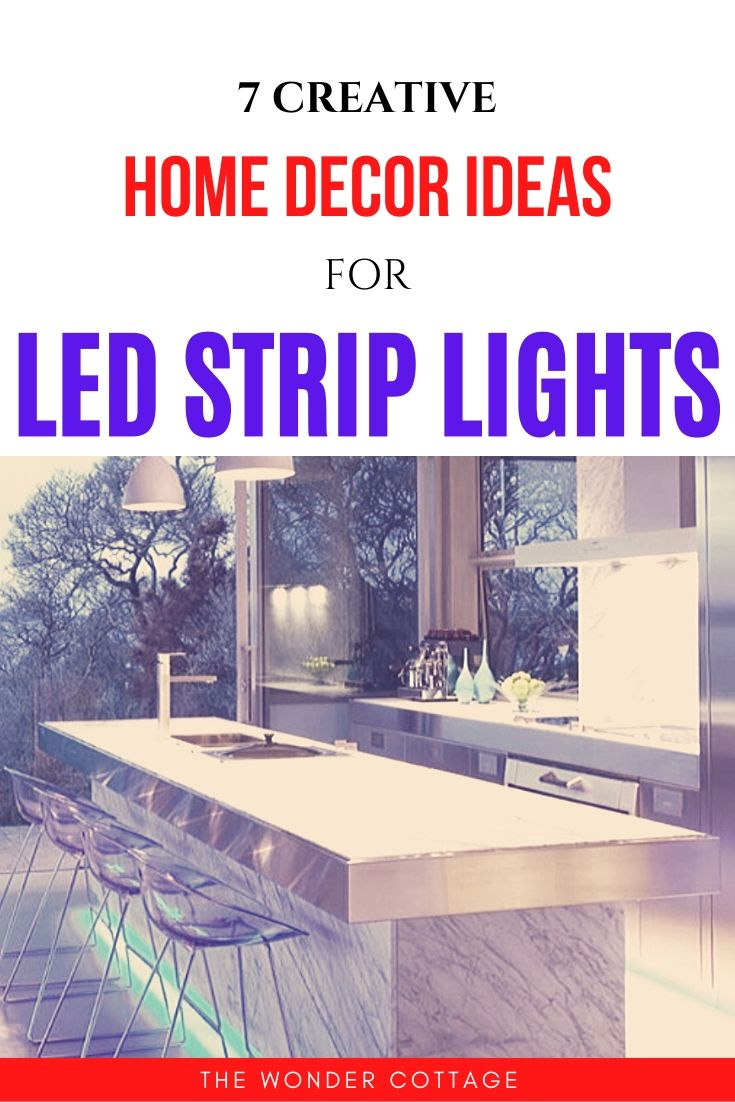home decor ideas for led strips