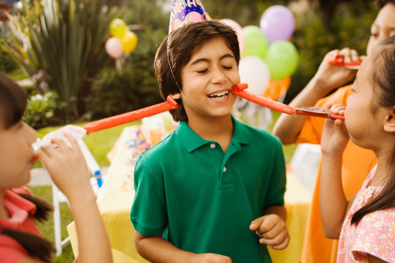 Kids having fun at birthday party