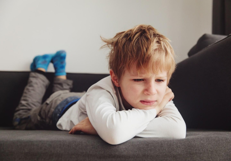 sad unhappy, tired child, stress and depression