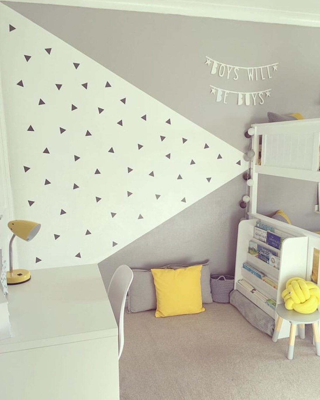 grey kid's room decor