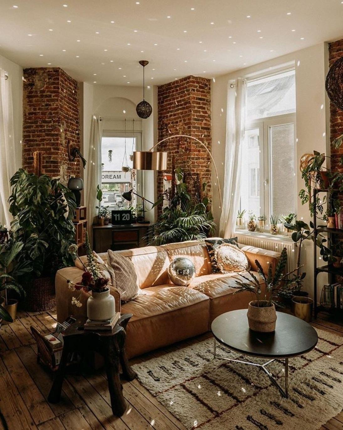 living room plant decor