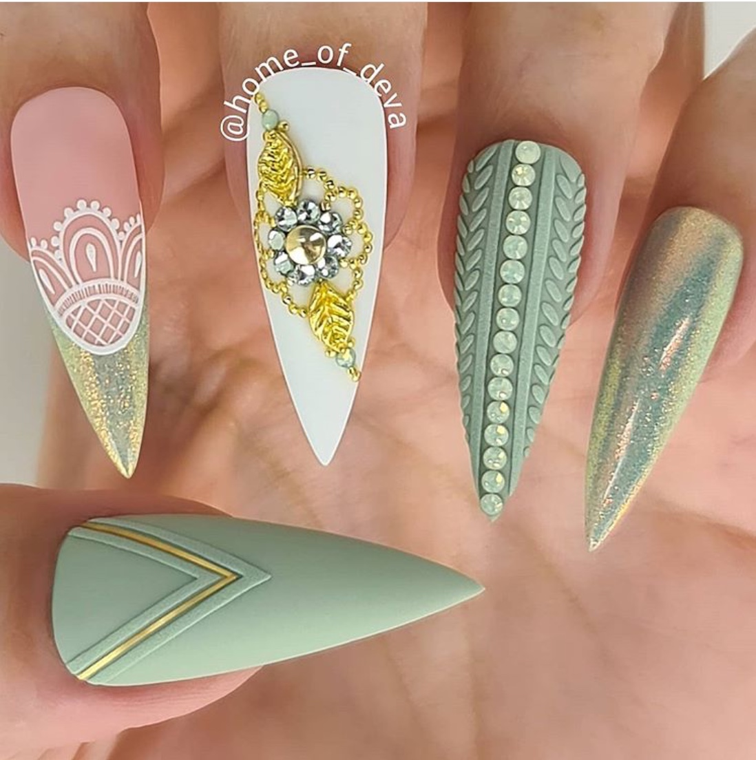`sweater nail designs