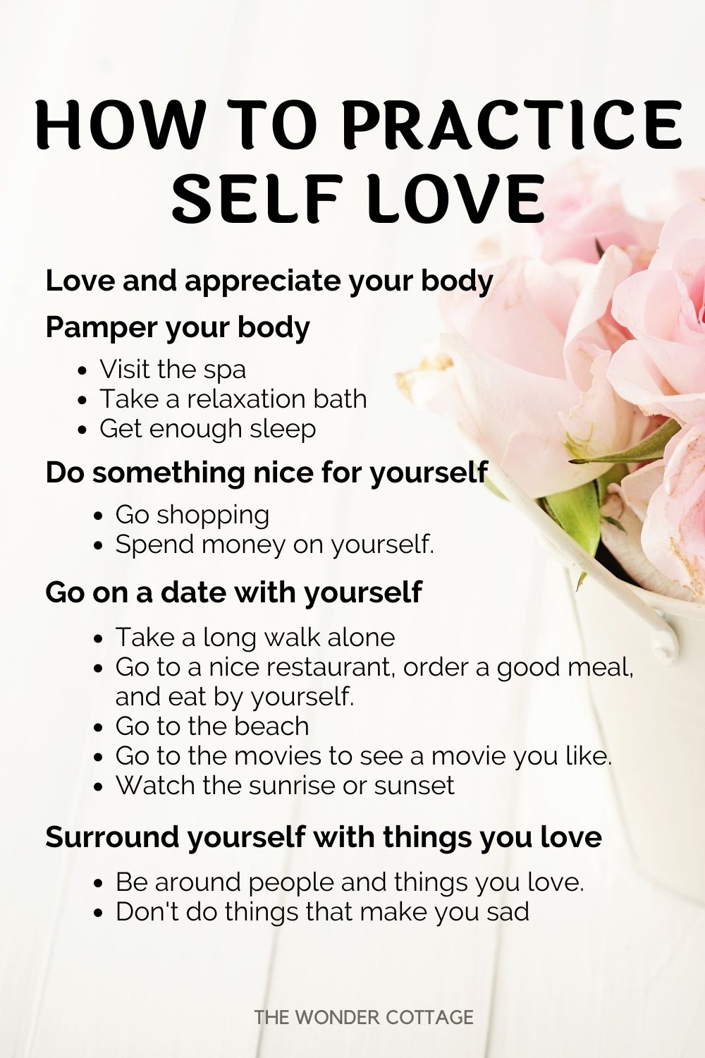 how to practice self love