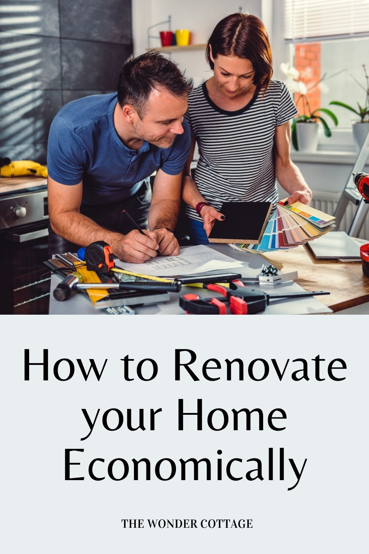 how to renovate economically