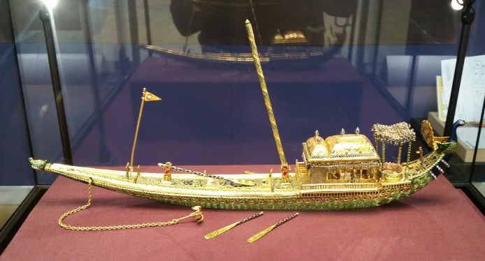 Close up of the peacock barge