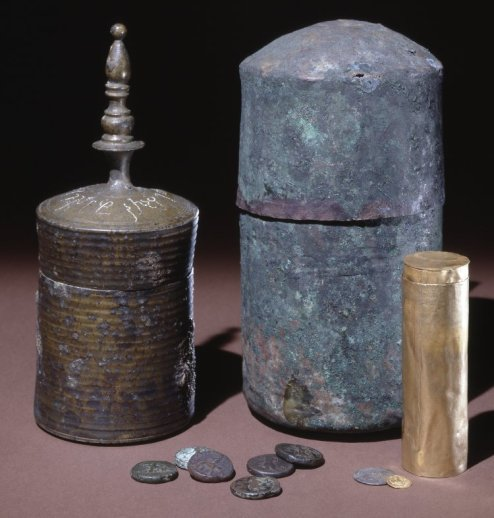 Some of General Ventura's finds from the Great Stupa at Manikyala