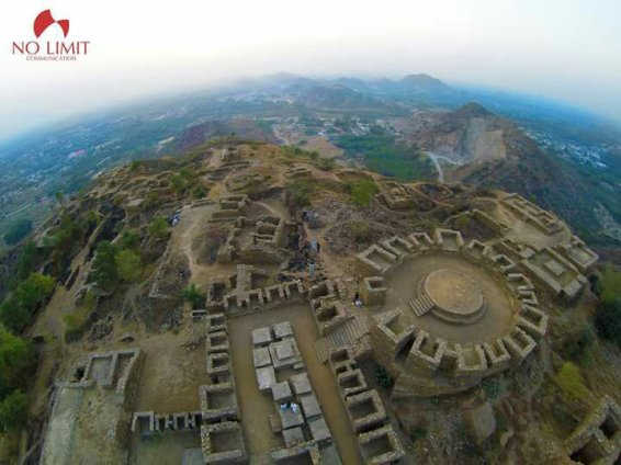Recent aerial view of Jamalgarhi © Directorate of Archaeology & Museums, KP / Dr Abdul Samad
