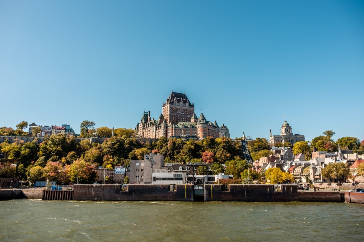 The Château Frontenac, seen from the ferryboat