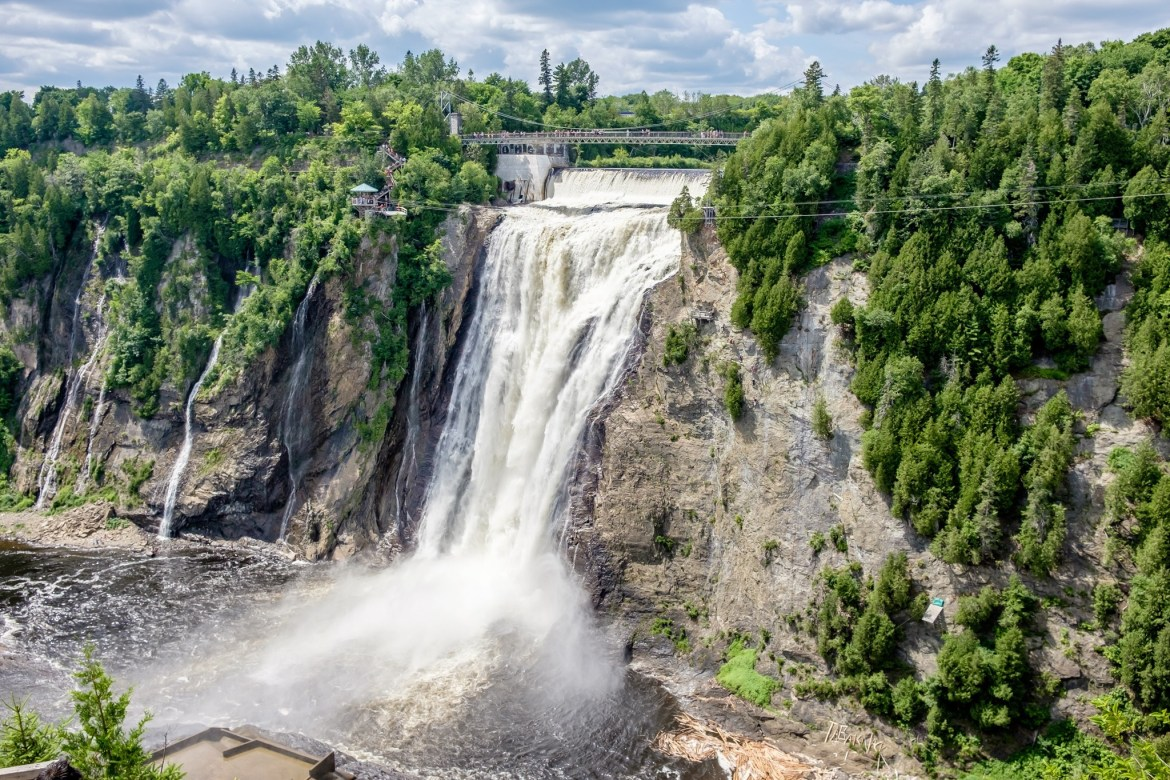 Montmorency Falls during Summer