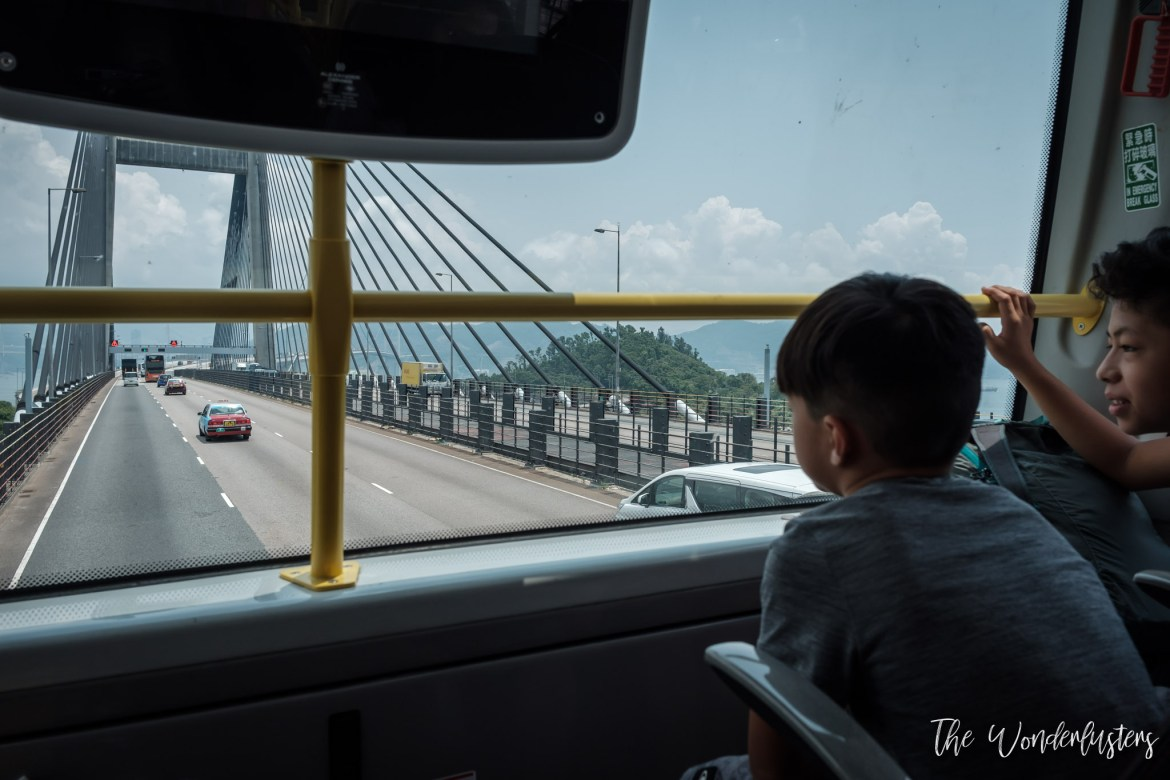 On the double-decker bus