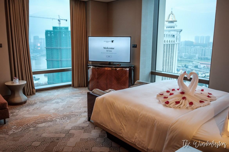 Our Bedroom at JW Marriott Hotel Macau