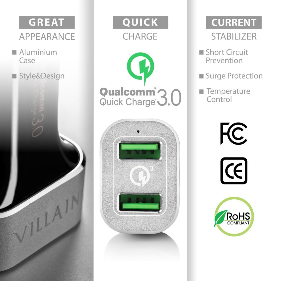 Quick Charge 3 0 Car Charger
