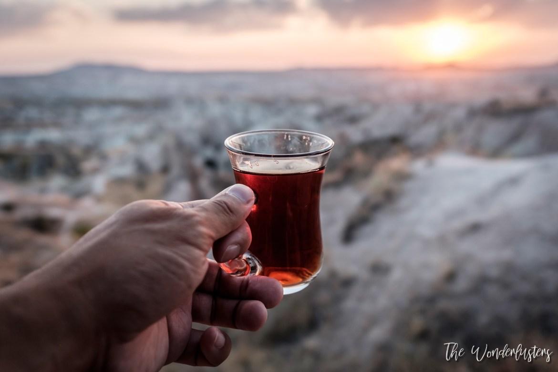 Tea with a sunset