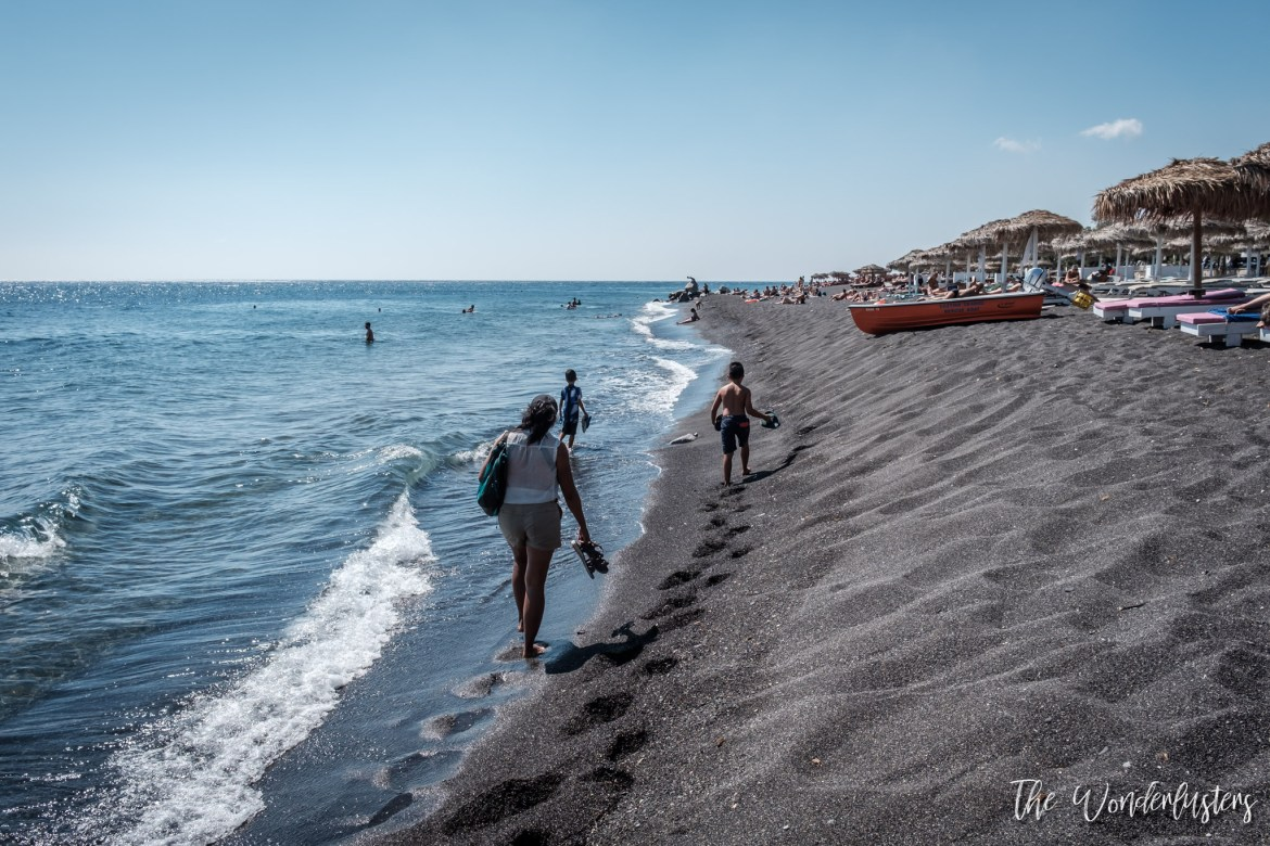 Perissa Black Beach