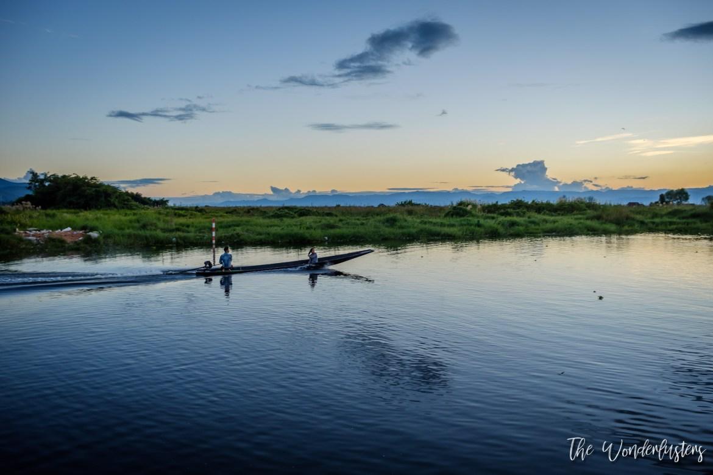 Inle Lake at Sunset